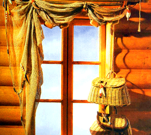оформление окон шторами фото