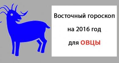 восточный гороскоп на 2016 год для козы