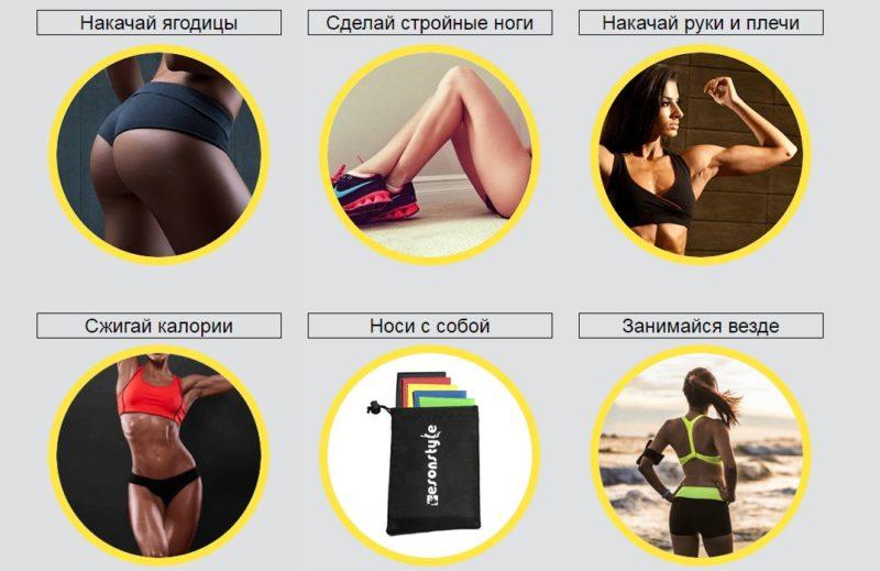 EsonStyle фитнес резинки купить в Обливской