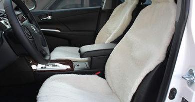 Меховая накидка на кресла автомобиля